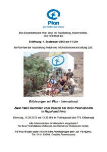 """Vortrag """"Erfahrungen mit Plan International"""""""